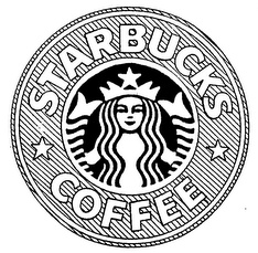 Words or a logo or both in a trademark application eric for Starbucks coloring page