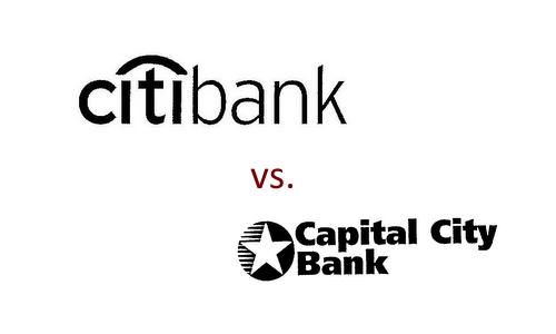 TrademarkSimilar_CapitalCityBank_Citibank