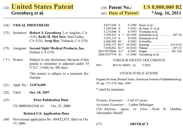 Patent Number Search